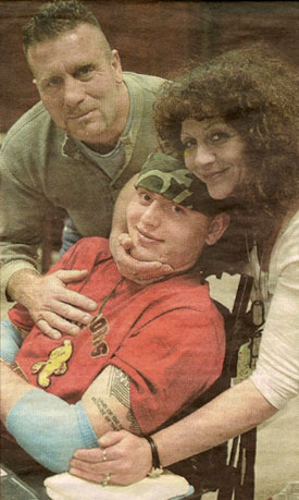 Sgt. Eddie Ryan and his Parents, Chris and Angela